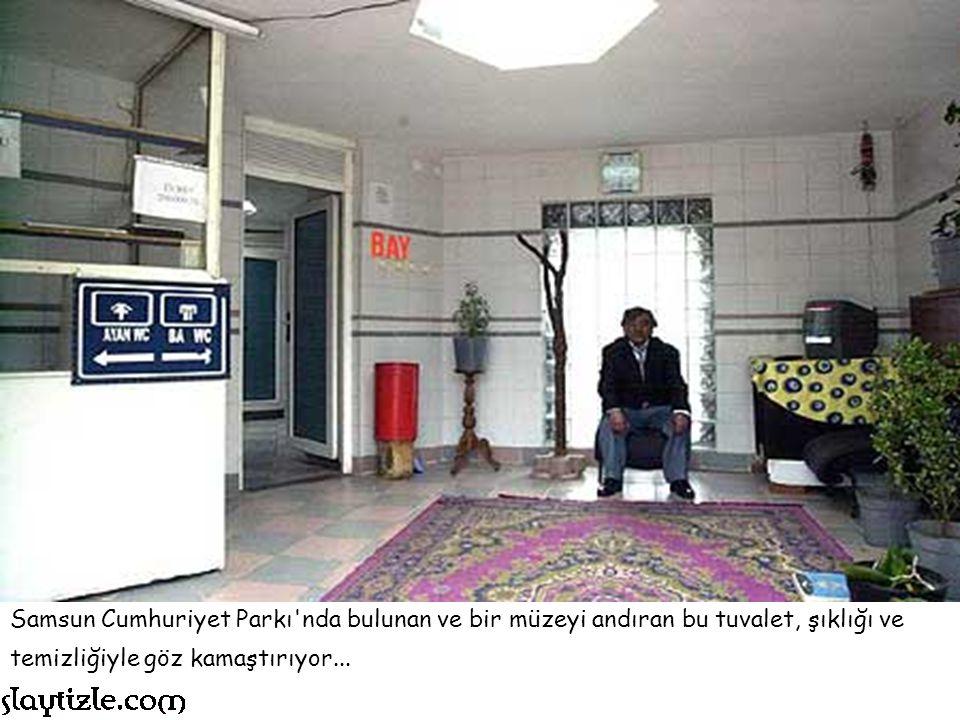 Samsun Cumhuriyet Parkı nda bulunan ve bir müzeyi andıran bu tuvalet, şıklığı ve temizliğiyle göz kamaştırıyor...