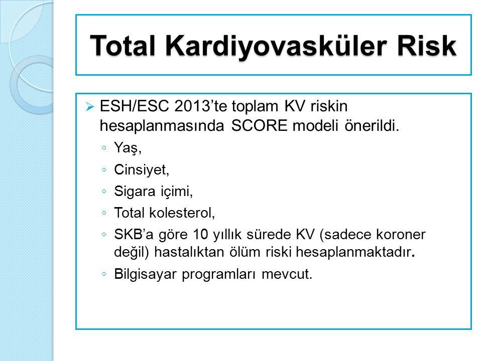 Total Kardiyovasküler Risk  1.