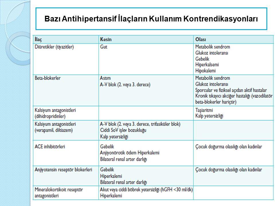Yaşlılarda Antihipertansif Tedavi  Kılavuzlar doğrultusunda ilaç tedavisine tiyazid grubu diüretikler, kalsiyum antagonisti, ARB, ACEİ ve β-blokerle başlanabilir.