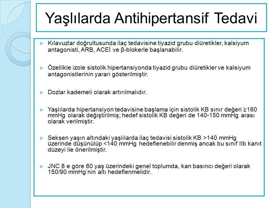 Diyabetik Hastalarda Antihipertansif Tedavi  Tüm diyabetik hastalarda yaşam tarzı değişimi şarttır.