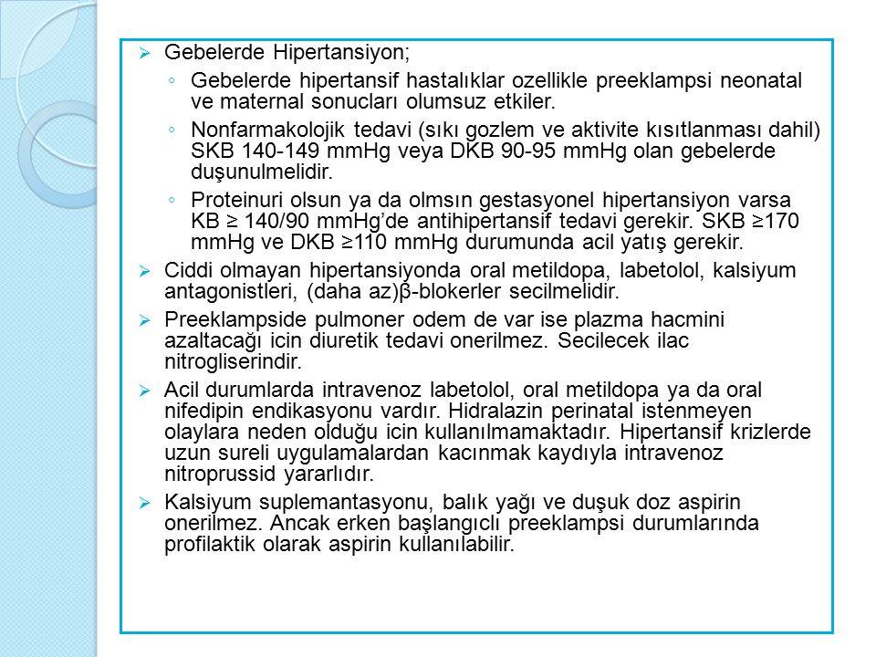 Metabolik Sendrom ve Hipertansiyon  Metabolik sendrom saptananlarda olmayanlara göre mikroalbüminüri, sol ventrikül hipertrofisi ve arteryal sertleşme olasılığı daha yüksektir.