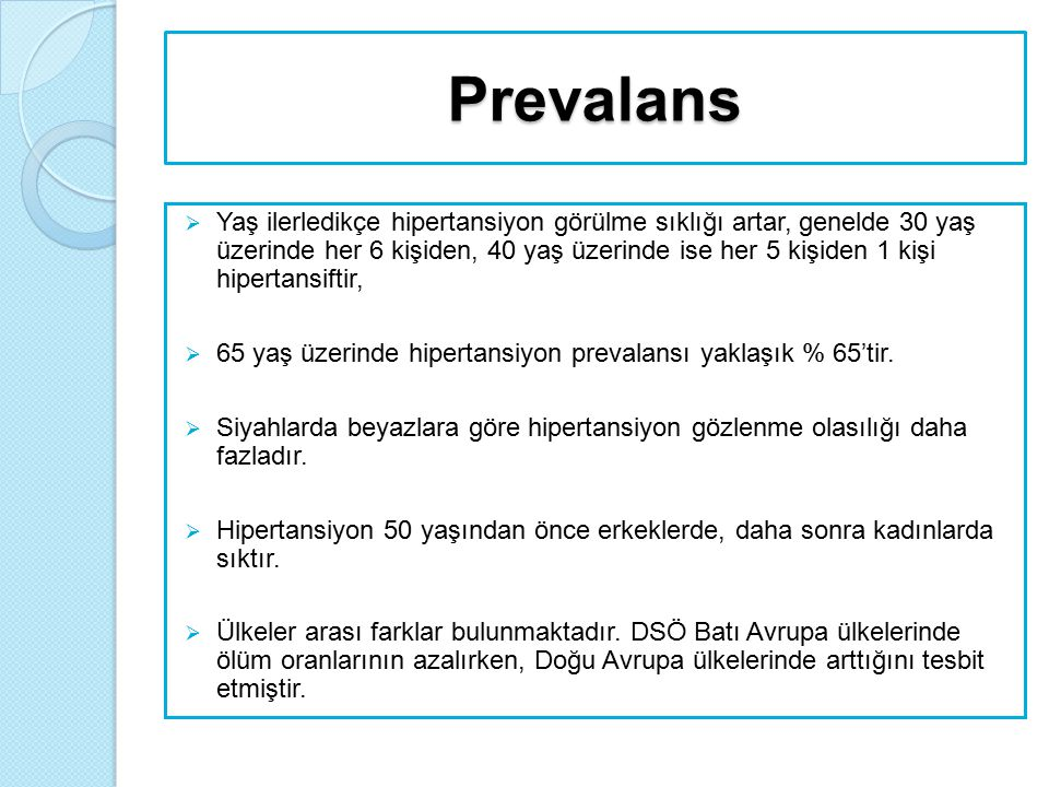 JNC 8 aşağıdaki sonuçları vurgulamıştır:  50 yaşın üzerindeki kişilerde sistolik KB'nın 140 mmHg'nın üzerinde olması diyastolik KB'na göre KVH için daha fazla risk faktörüdür.
