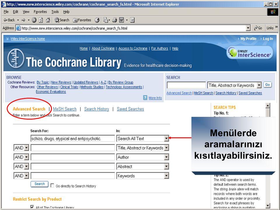 MeSH tanımlayıcılarını aramak için anlamdaşlar özelliğini kullanın.