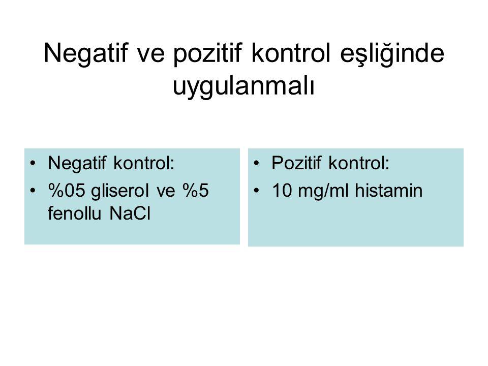 Standardize solüsyonlarla uygulanmalı Standardize solüsyonlar: BAU/ml AU/ml SAU/ml İnhalan allerjenler Standardize olmayan: w/v PNUs Gıdalar