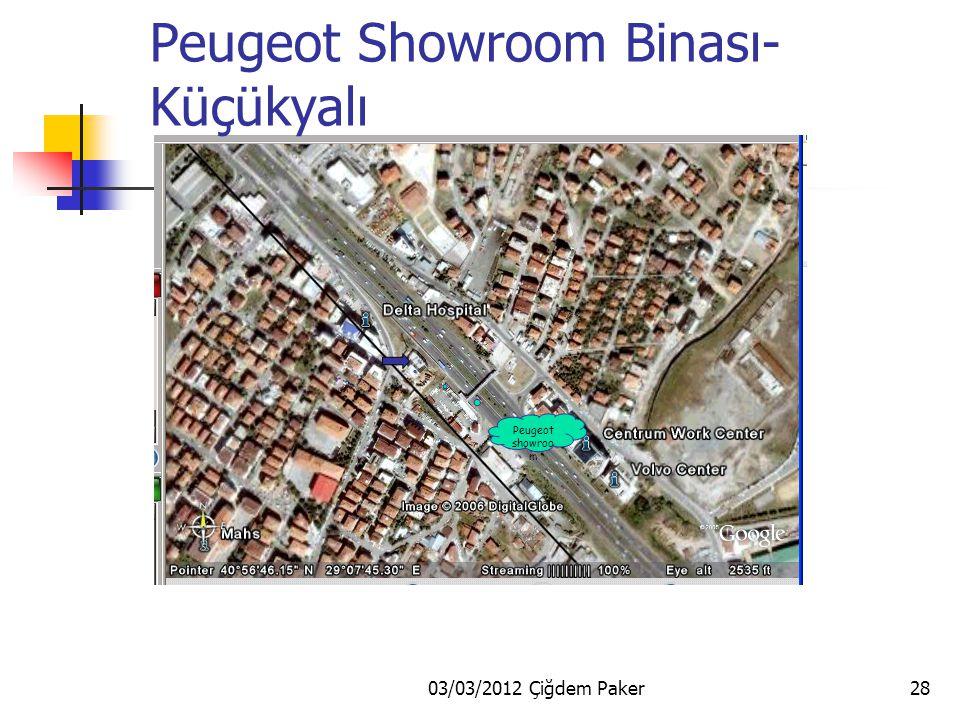 03/03/2012 Çiğdem Paker28 Peugeot showroo m Peugeot Showroom Binası- Küçükyalı