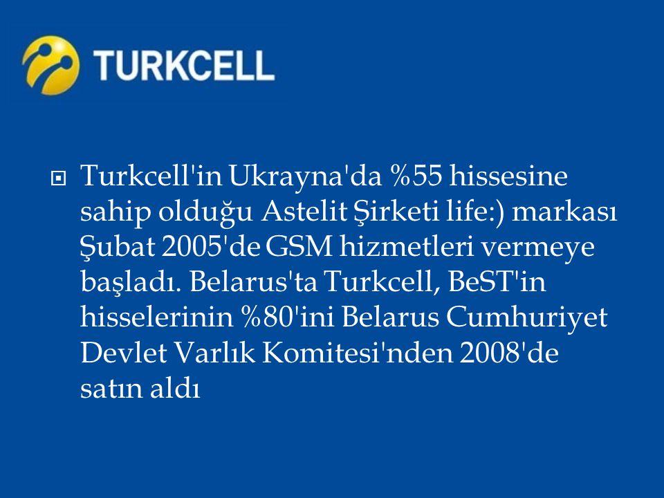  Turkcell in tamamına sahip olduğu Almanya daki iştiraki Turkcell Europe ise 2011 yılında faaliyetlerine başladı.