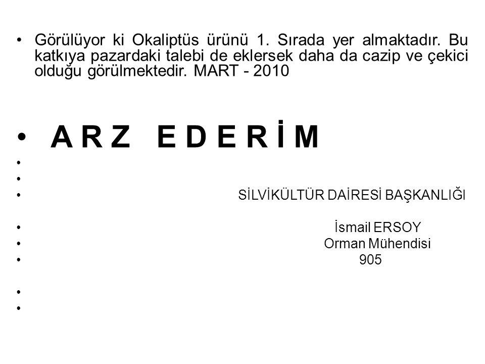 YARARLANILAN KAYNAKLAR: 1-Okaliptus yetiştiriciliği Doğu Akdeniz ormancılık araştırma Enstitüsü yayınları.
