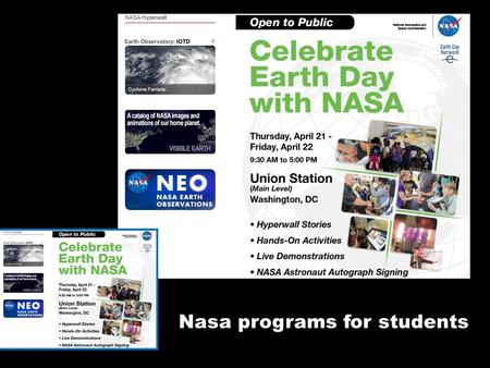 Nasa programs for students.
