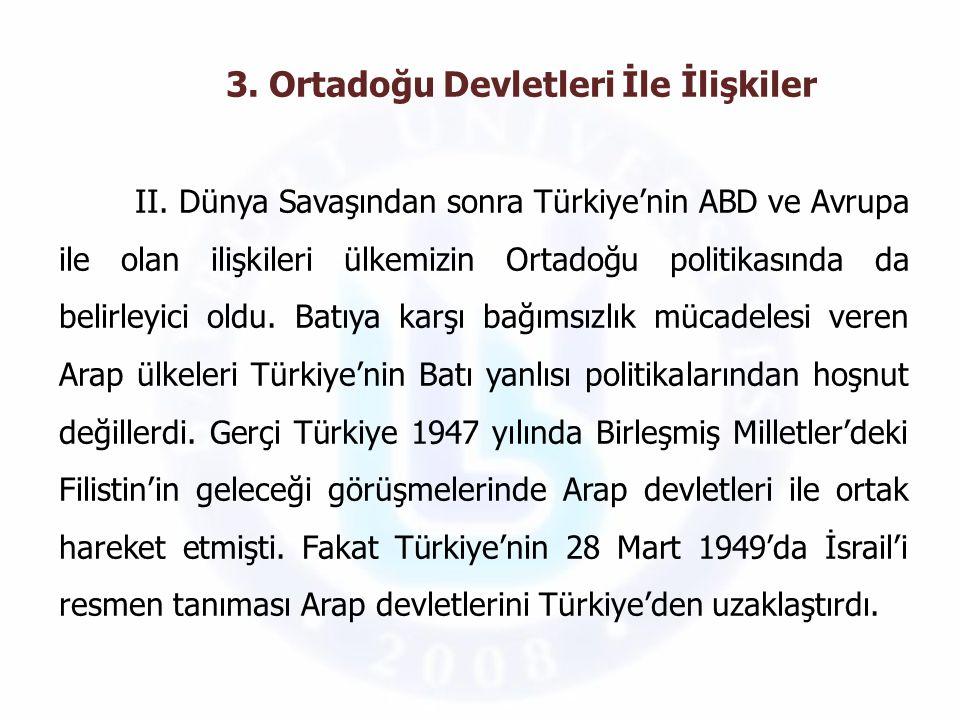 Demokrat Parti döneminde Türkiye'nin Ortadoğu'daki en önemli siyasi faaliyeti Bağdat Paktı'nın kuruluşudur.