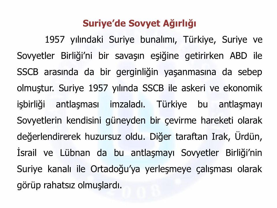 Gerginlik artınca Batı Avrupa'daki Amerikan askerlerinin bir kısmı Adana'ya sevk edilirken Amerikan 6.