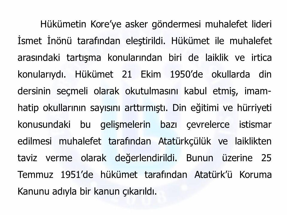 1950 yılı ortalarında Avrupa Kalkınma Planı'na dahil edilen Türkiye'ye 100 milyon dolar ayrılmıştı.