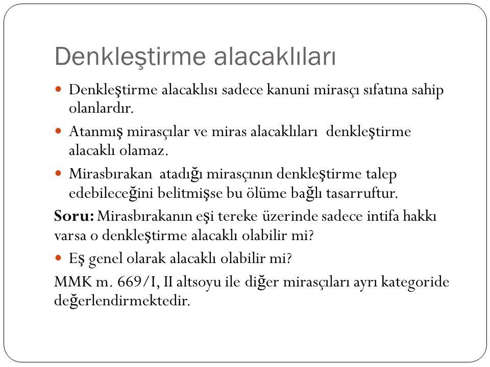 Mirasçılık sıfatının kaybı hâlinde TMK m.