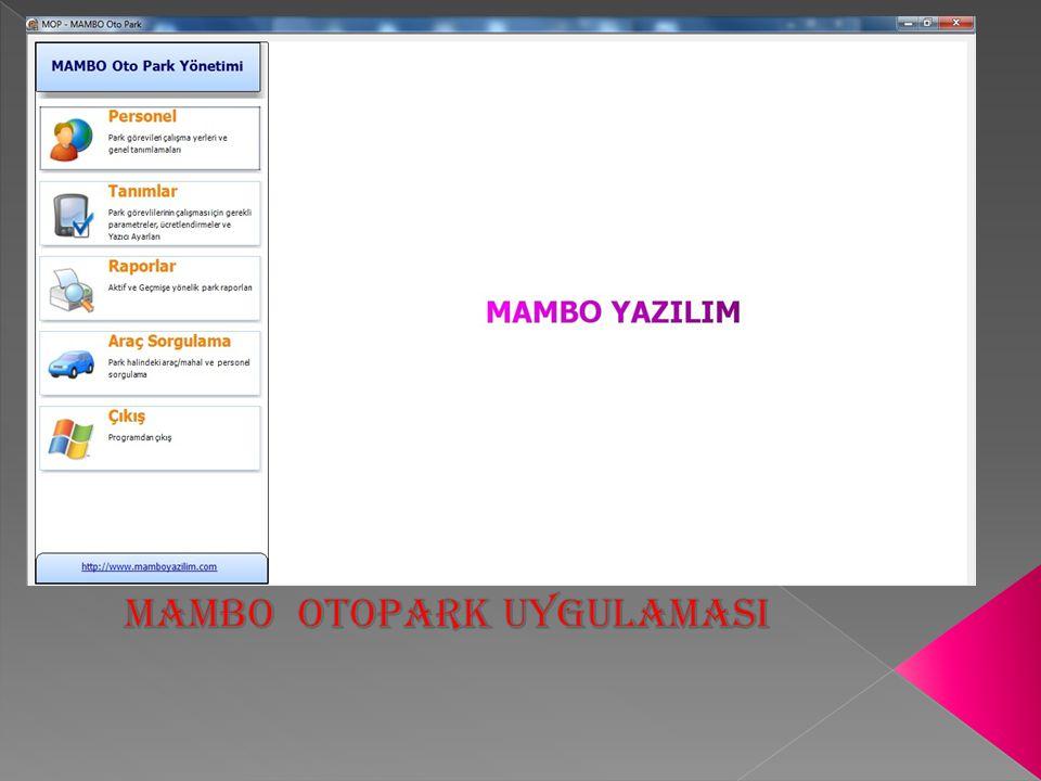 Otopark görevlisi veya kontrolör yetkilendirme  PERSONEL