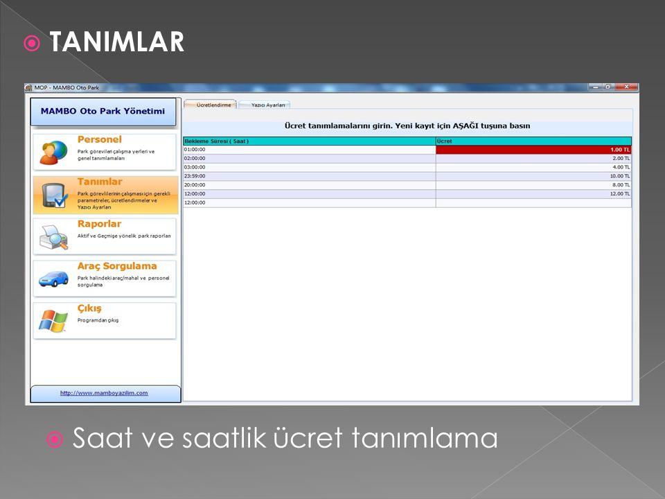  Terminal bilgilerinin oluşturulup gönderilmesi ve el terminali bilgilerinin manüel ya da ONLINE olarak arka ofise aktarılabilmesi  RAPORLAR