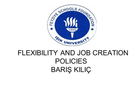 FLEXIBILITY AND JOB CREATION POLICIES BARIŞ KILIÇ.
