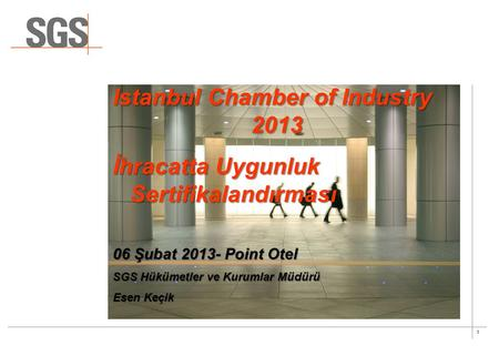 Istanbul Chamber of Industry 2013
