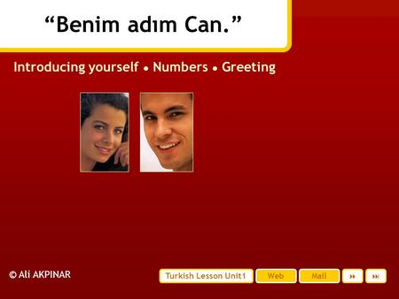 Introducing yourself ● Numbers ● Greeting