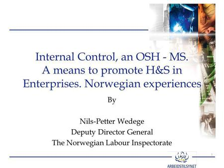 Internal Control, an OSH - MS. A means to promote H&S in Enterprises