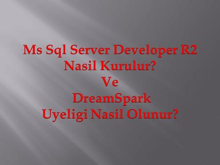Ms Sql Server Developer R2