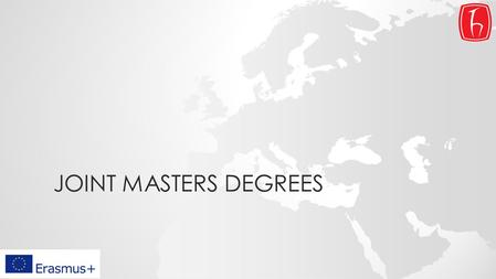 JOINT MASTERS DEGREES.