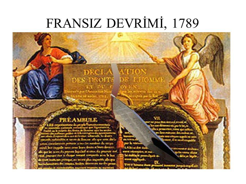 İnsan ve Yurttaş Hakları Beyannamesi (Fransız Devrimi 26 Ağustos 1789 ) Madde 1.