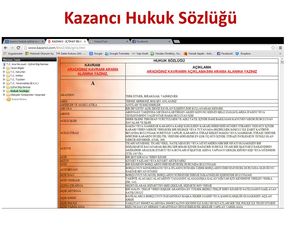 Hukuk Eserleri Bilgi Bankası