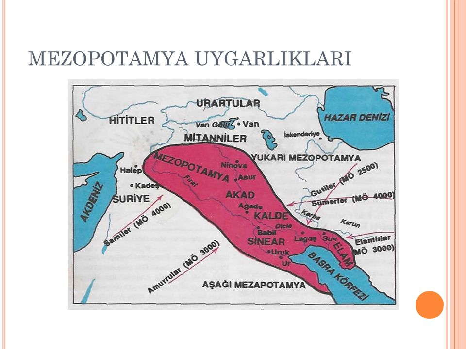 Mezopotamya: Fırat nehri ve Dicle nehri arasında kalan verimli topraklara verilen isimdir.