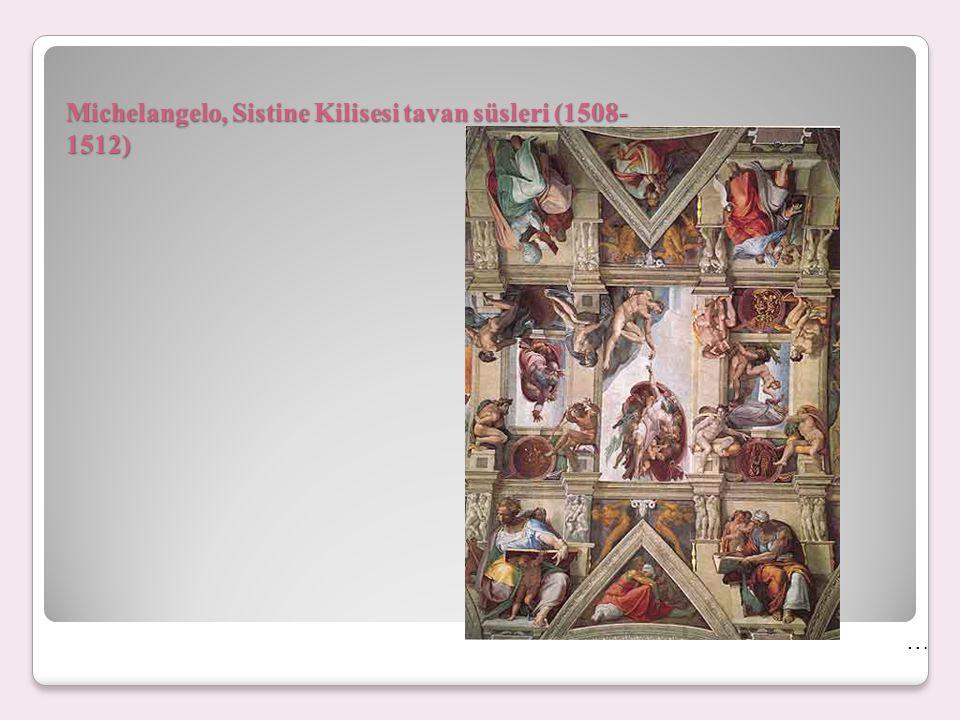 Michelangelo, Sistine Kilisesi tavan resmi eskizleri …