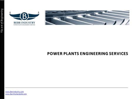 POWER PLANTS ENGINEERING SERVICES