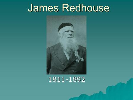 James Redhouse 1811-1892.