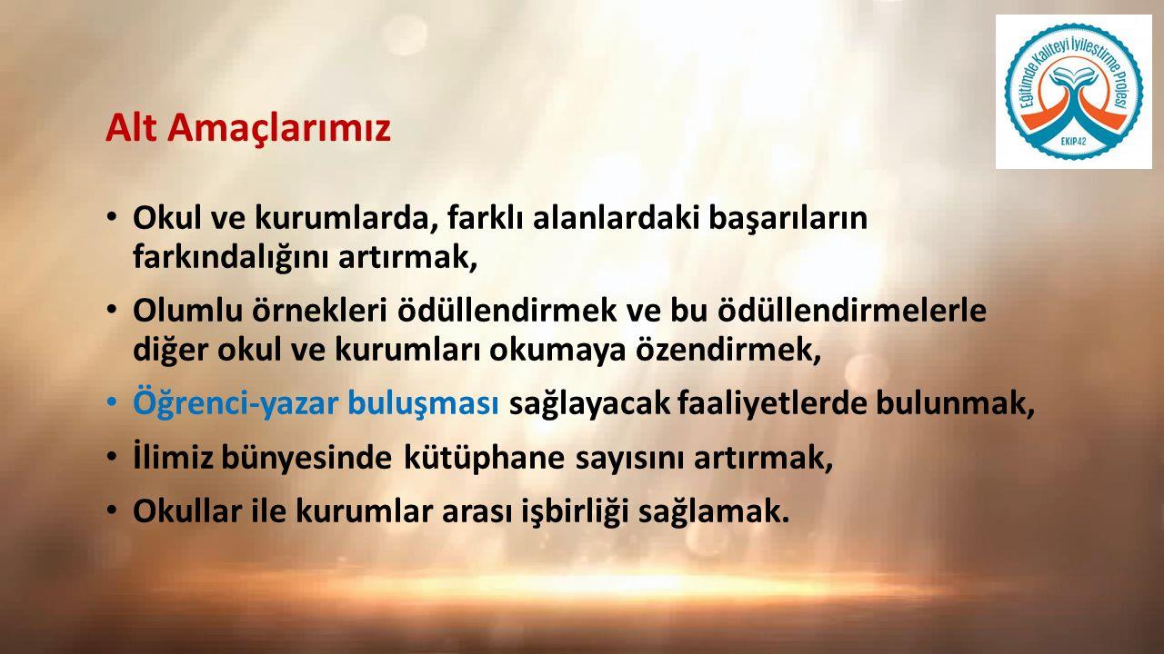 Hedef Kitle: İlimiz genelindeki bütün okullar Konya il genelindeki bütün okul yöneticileri, öğretmenleri ve velileri Web tabanlı olarak ilimiz ortaokul öğrencileri (5, 6 ve 7.