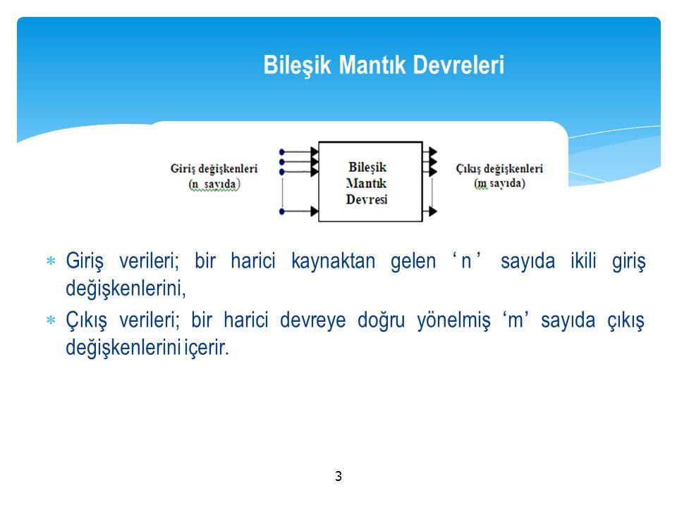  dört farklı grup altında incelenebilir: 1- Kodlama ile İlgili Lojik Devreler: Kodlayıcı (Encoder), Kod çözücü (decoder), Kod değiştirici / çevirici (Code converter).