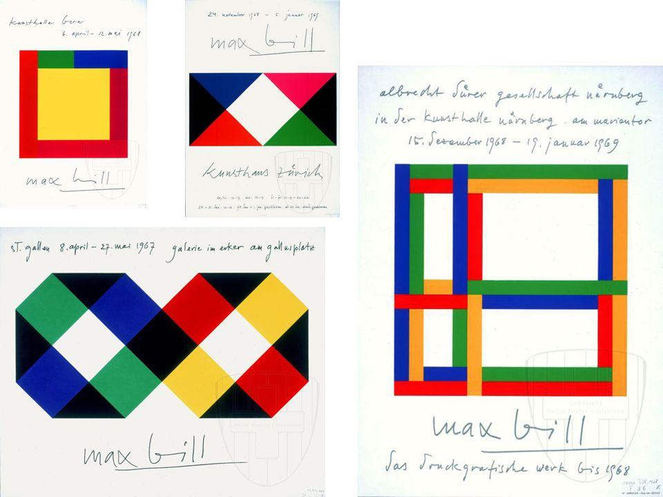 İsviçreli tasarımcı Max Huber, Max Bill'in grafik tasarıma yalın yaklaşımının karşısında 1930 ve 40'larda grafik karmaşık düzenlemeyi tercih etmiştir.
