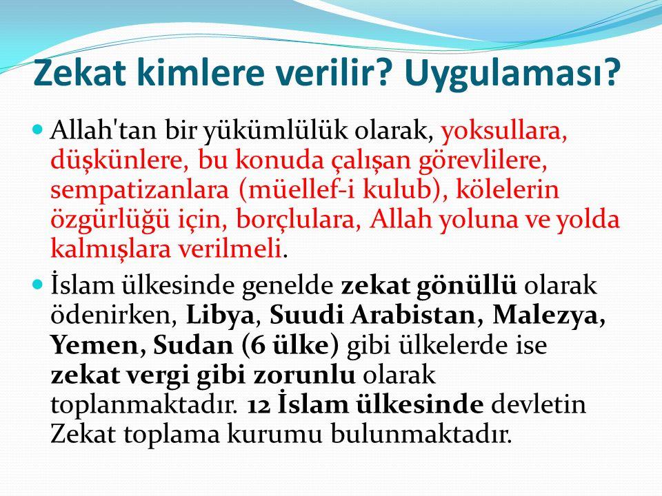 Osmanlı'da Zekat Uygulaması.