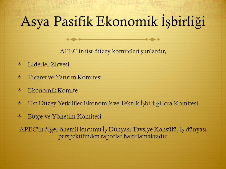 Üye ekonomiler Asya Pasifik Ekonomik İş birli ğ ine üye 21 ülke bulunmaktadır.