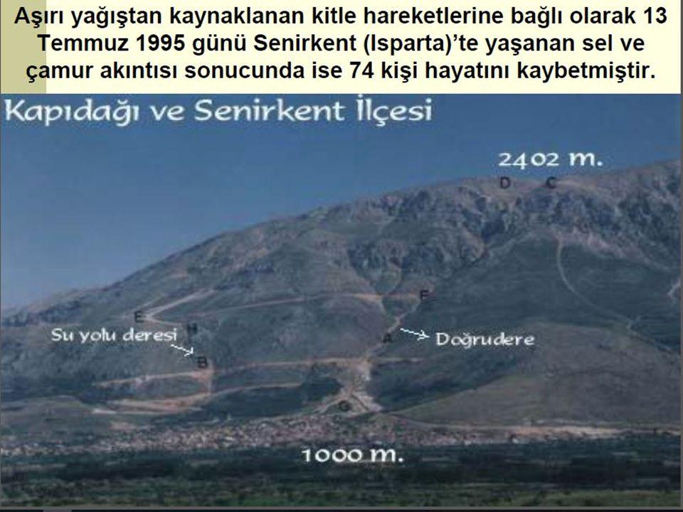 Senirkent Erozyon Kontrolü Projesi : Projenin amacı Senirkent ilçesinin güneyinde yer alan Kapı Dağları'ndan gelen sel ve taşkınların önlenmesi ve erozyonun durdurulmasıdır.