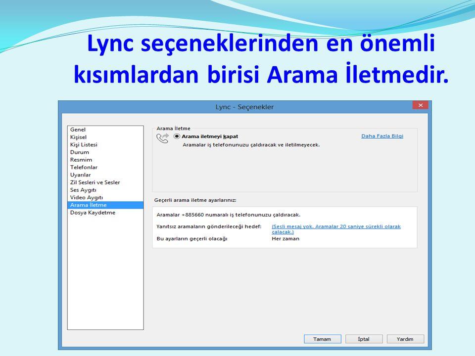  Gerek lync 2010 ve gerekse de lync 2013 client uygulamalarının IOS ve Android uygulamaları vardır.