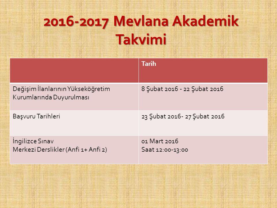 MEVLANA DEĞİŞİM PROGRAMINA KİMLER KATILABİLİR.
