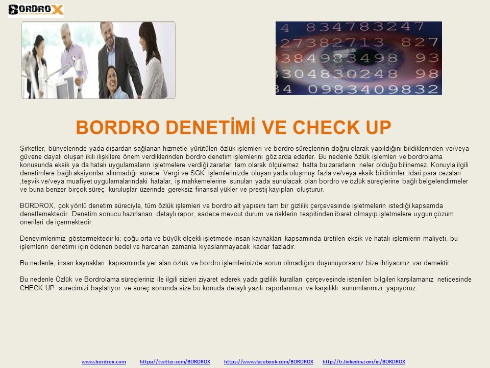 BORDRO DENETİMİ VE CHECK UP