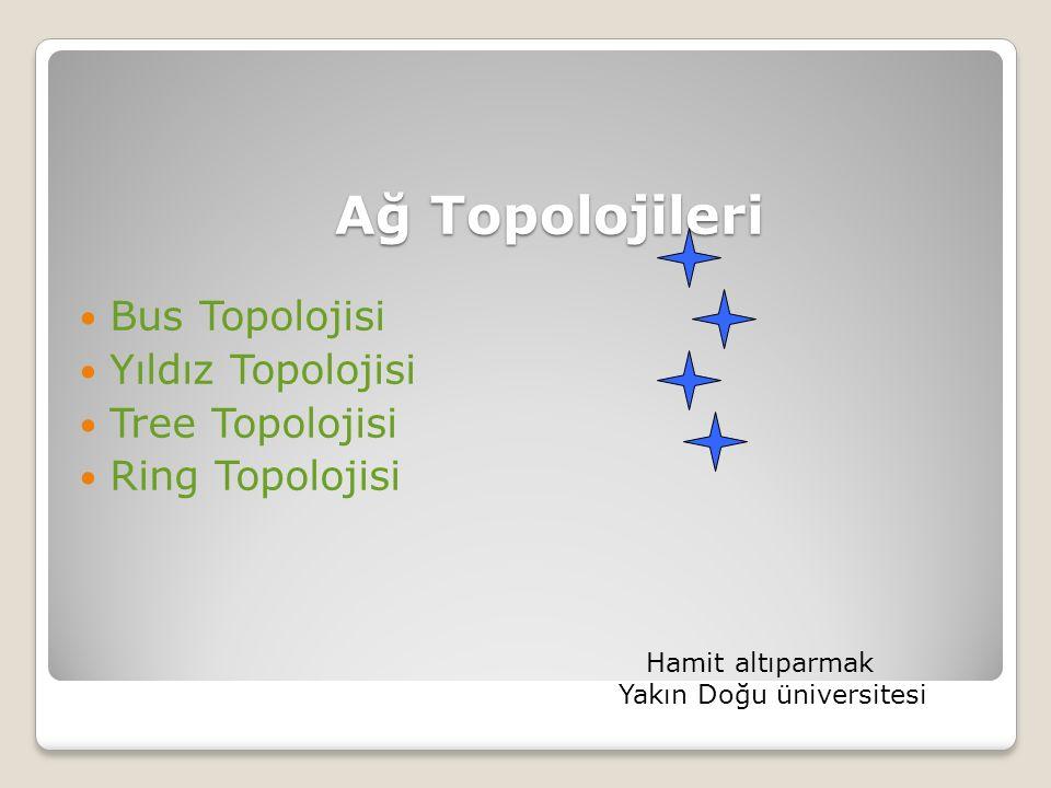 Ağ Topolojileri Bus Topolojisi Yıldız Topolojisi Tree Topolojisi