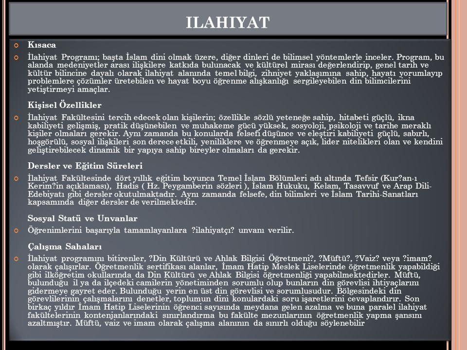 ilahiyat Kısaca.