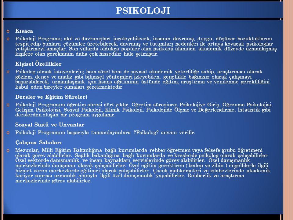 psikoloji Kısaca.