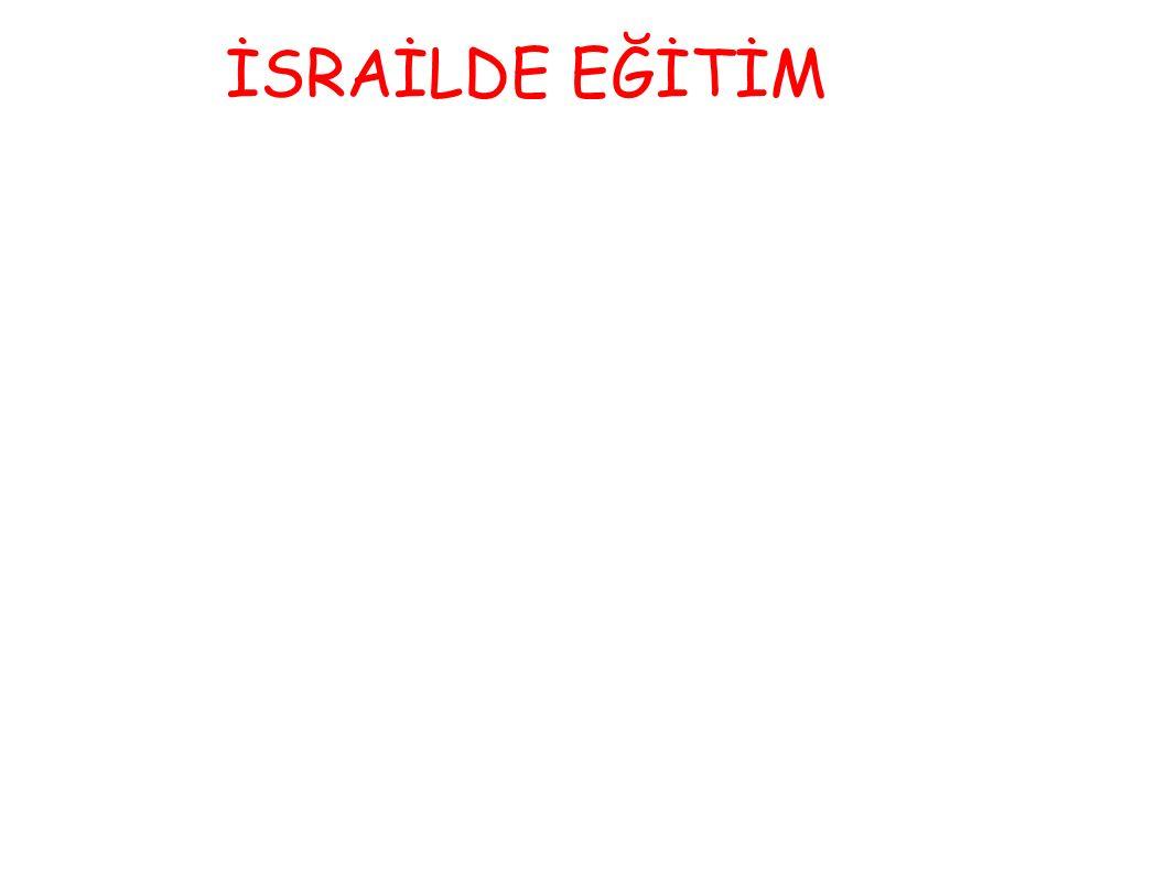 İSRAİLDE EĞİTİM