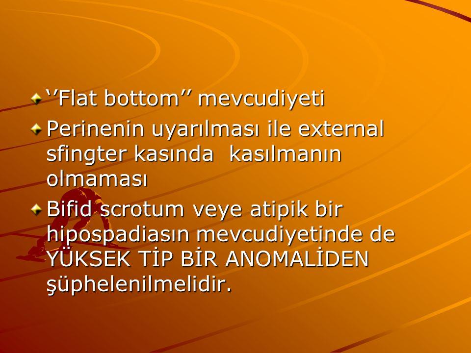 ''Flat bottom'' mevcudiyeti