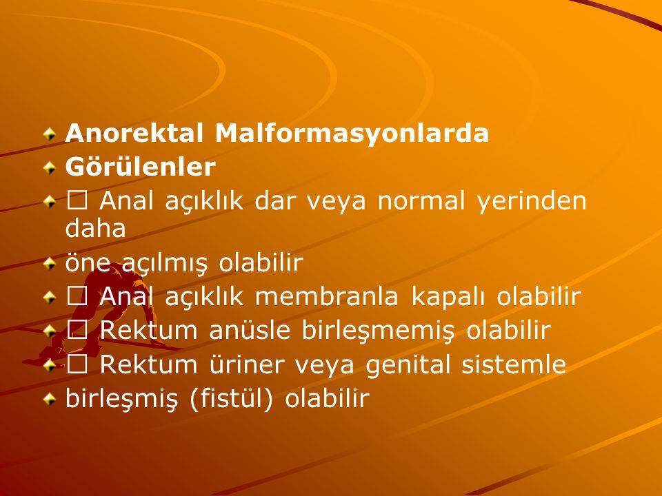 Anorektal Malformasyonlarda