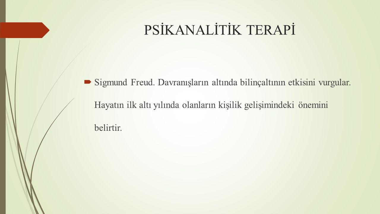 PSİKANALİTİK TERAPİ