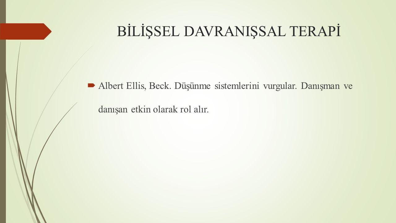 BİLİŞSEL DAVRANIŞSAL TERAPİ