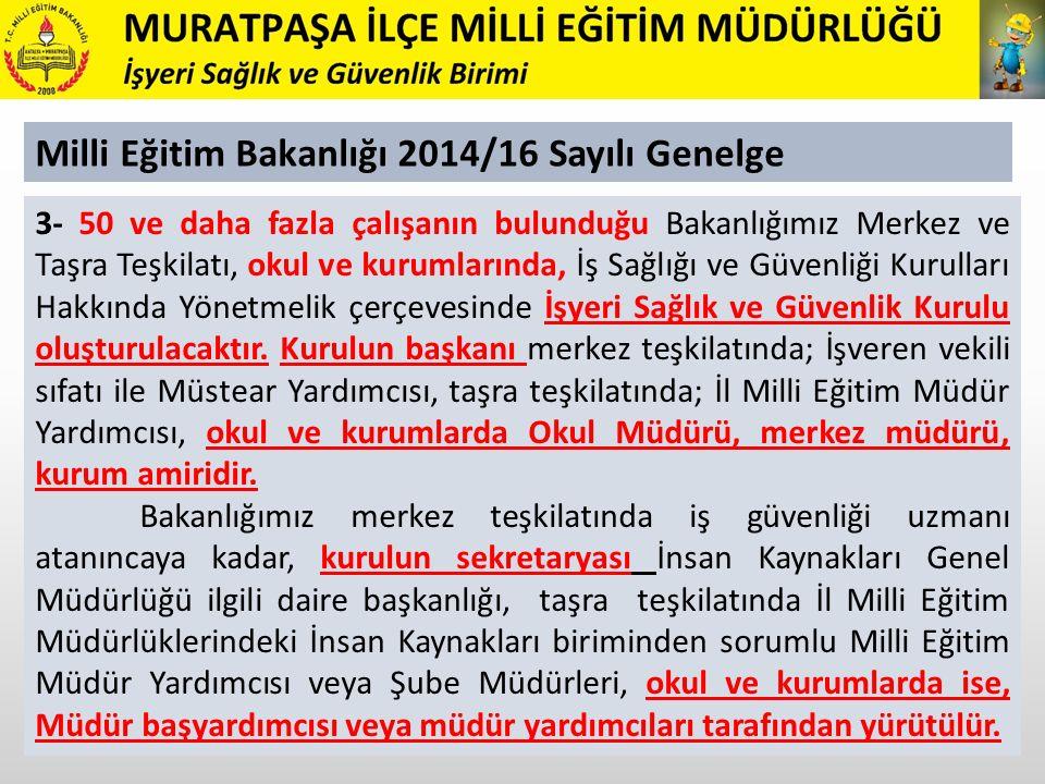 Milli Eğitim Bakanlığı 2014/16 Sayılı Genelge