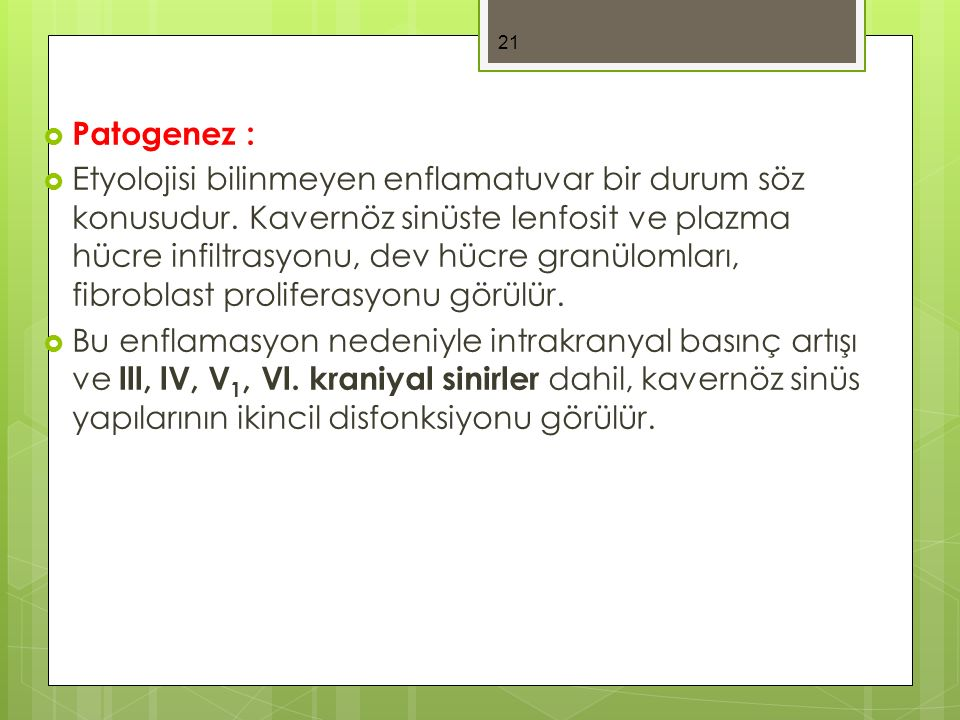 Patogenez :