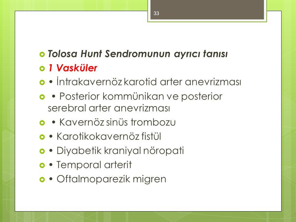 Tolosa Hunt Sendromunun ayrıcı tanısı